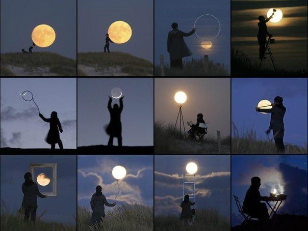 Как на фото сделать ночь